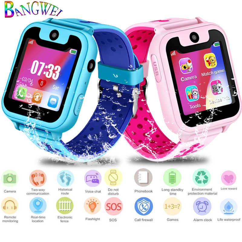 LIGE New Children Phone Watch Child LBS Positioning Remote Monitoring Lighting SOS Emergency Phone Kid Smart Watch Voice chat