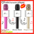 Q9 Microphone karaoke bluetooth Wireless 2016 New Advanced Handheld Mobile Phone Karaoke Condenser Car KTV in 3 Colors
