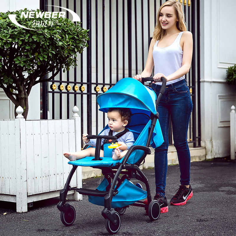 цена на Baby car cart child cart summer car umbrella portable folding pocket bike light