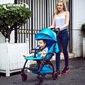 Carro coche de bebé niño cesta coche paraguas verano bolsillo portátil plegable bicicleta luz