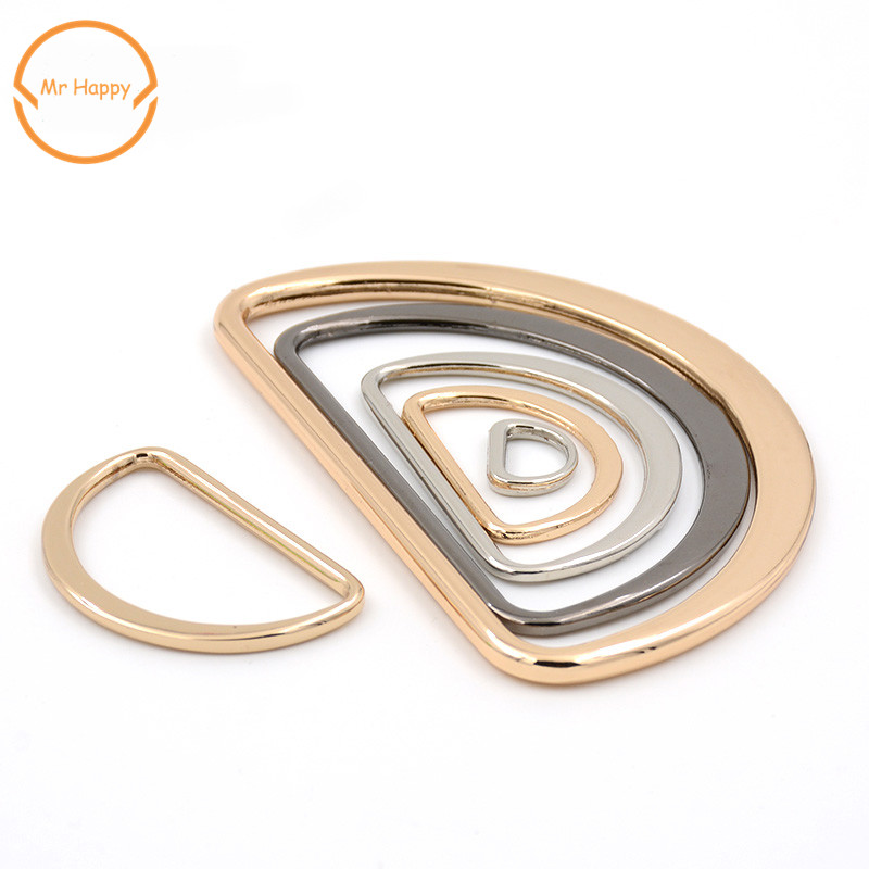 20pcs/lot <font><b>15mm</b></font>/20mm/25mm/30mm/40mm Type D Ring Connection Metal Shoes Bags Purse Strap <font><b>Buckles</b></font> DIY Accessories image