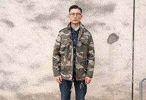 Image 5 - A. c. e. Exército dos eua 1966 m65 replica campo trench coat camuflagem jaqueta militar inverno longo outwear