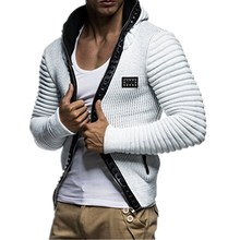 2018 Autumn Fashion Men Hoodies Brand Leisure Men Hoodie Sweatshirts Casual Zipper Hooded Jackets Male Rivet Hoody  Punk XXXL