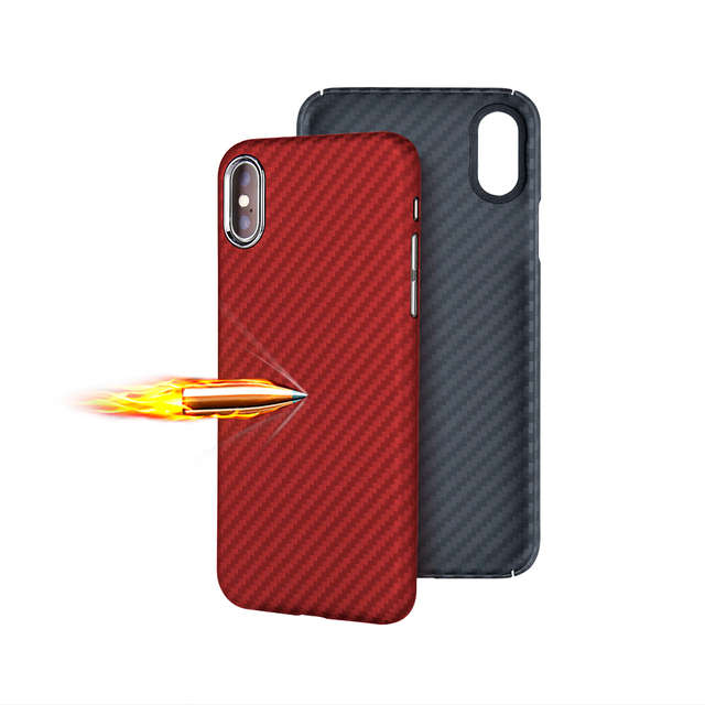 Full Protection Aramid Fiber Case for iPhone X Shockproof Anti-knock Phone Case Cover For iPhone X Luxury Cover Bag