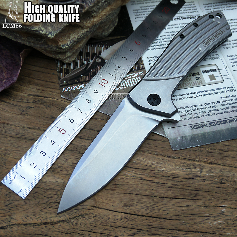 LCM66 tactical Folding knife D2 steel All steel handle Camping Outdoor Survival Knives Hunting Tools Very Sharp Cold tool steel lcm66 d2 steel karambit scorpion claw knife outdoor camping jungle survival battle fixed blade hunting knives self defense tool