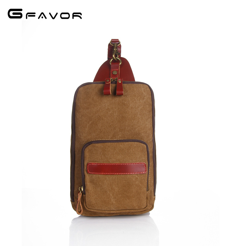 Vintage Canvas Chest Bag Men Crossbody Bag 2018 New Casual Travel Shoulder Bag Fashion Large Capacity Zippers Chest Bag for Men vintage canvas chest bag men new crossbody shoulder bag multifunction casual travel bag fashion large capacity chest bag for men