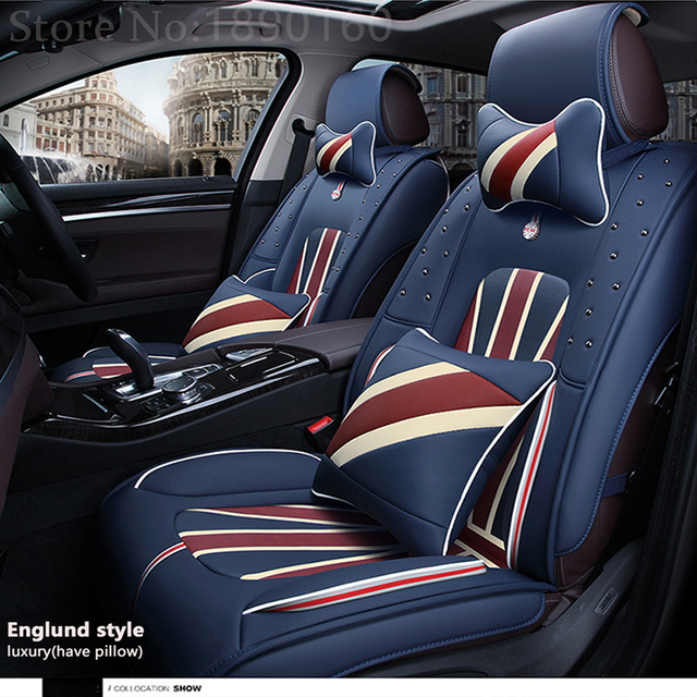 Front Rear Special Leather Car Seat Covers For Fiat All Models Ottimo 500