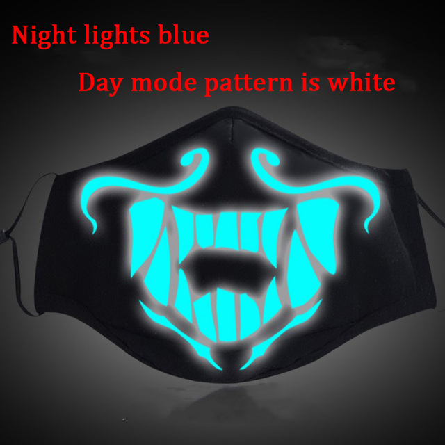 Game LOL KDA Akali Masque Cosplay Props S8 Mask Night Lights Face Masks Women Men Resist The Cold Wind Accessoires 3