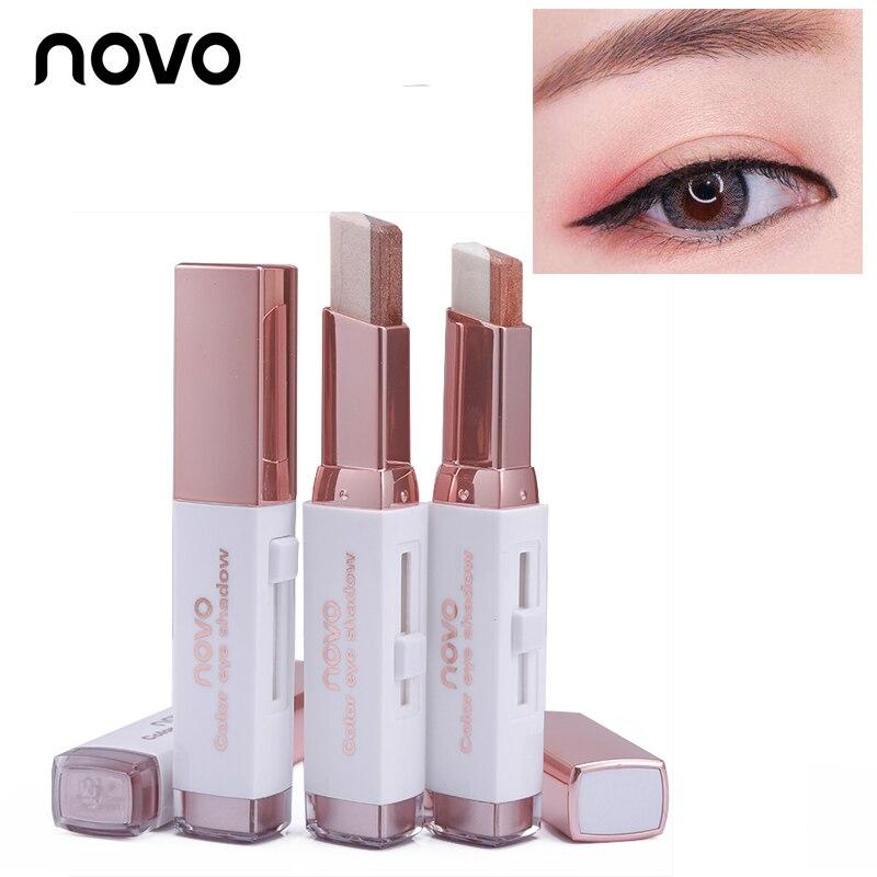 Double Color Stereo Gradient Velvet Eyeshadow Stick Shimmer Earth Color Eye Shadow Cream Pen Sombra NOVO Eye Makeup Cosmetic Set