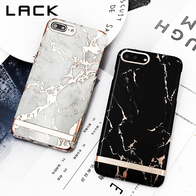 buy popular ca6fa 646d9 US $3.28 15% OFF|LACK Rose Gold Marble Print Phone Case For iphone 6 Case  Luxury High Quality Hard Plastic Cover Cases For iphone 6S 6 PLus Coque-in  ...