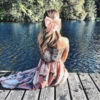 Weljuber 2018 Womens Boho Maxi Dress Flower Print Off Shoulder Bohemia Dresses High Quality Brand Vintage