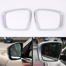 YAQUICKA 2Pcs/pair Car Exterior Rearview Mirror Frame Trim Cover Sticker Fit For Maserati Levante ABS Protective Car-styling