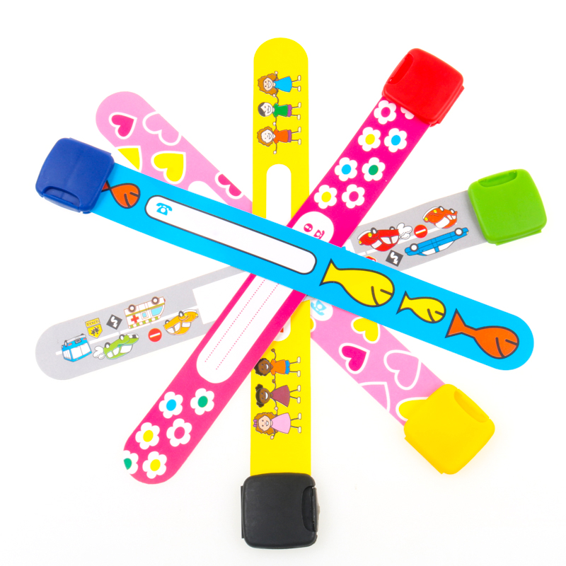 Wristbands-Bracelets Activity Field Id-Safety Adjustable Travel Event Trip Child 5-Colors