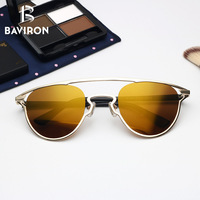 BAVIRON High Quality Shield Sunglasses For Women Anti Reflection Sun Glasses Double Bridge TR90 Legs Cat