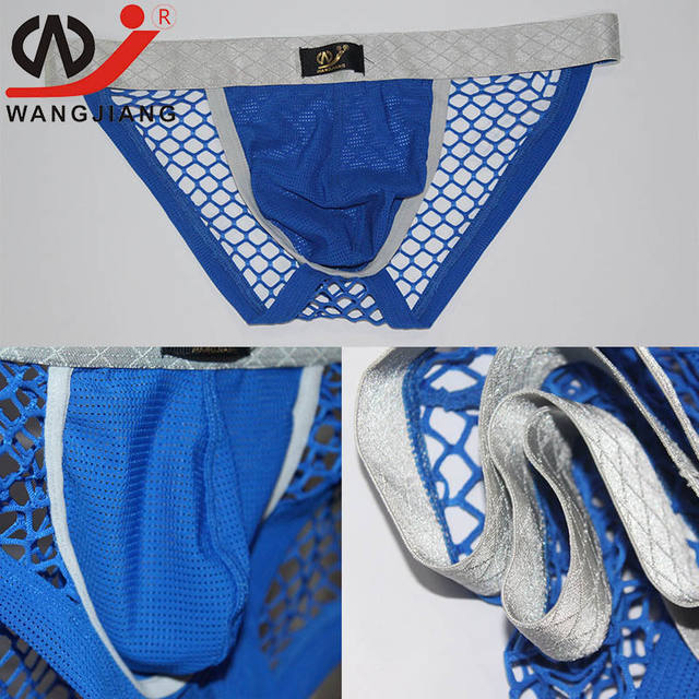 WJ Sexy Men Underwear Mens Thongs And G Strings Jockstrap Gay Mens Thong Sexy Erotic Homens Transparent Sexy Gay Underwear