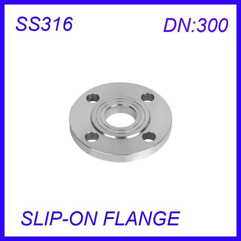 DN300 Stainless Steel SS316L  RAISED FACE 4-Bolt SLIP-ON FLANGE IndustrialDN300 Stainless Steel SS316L  RAISED FACE 4-Bolt SLIP-ON FLANGE Industrial