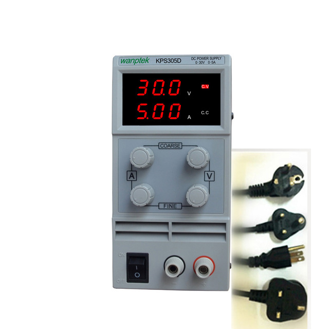 Switchable KPS305D Adjustable High precision double LED display switch DC Power Supply protection function wanptek kps305d 1200w wanptek kps3040d high precision adjustable display dc power supply 0 30v 0 40a high power switching power supply