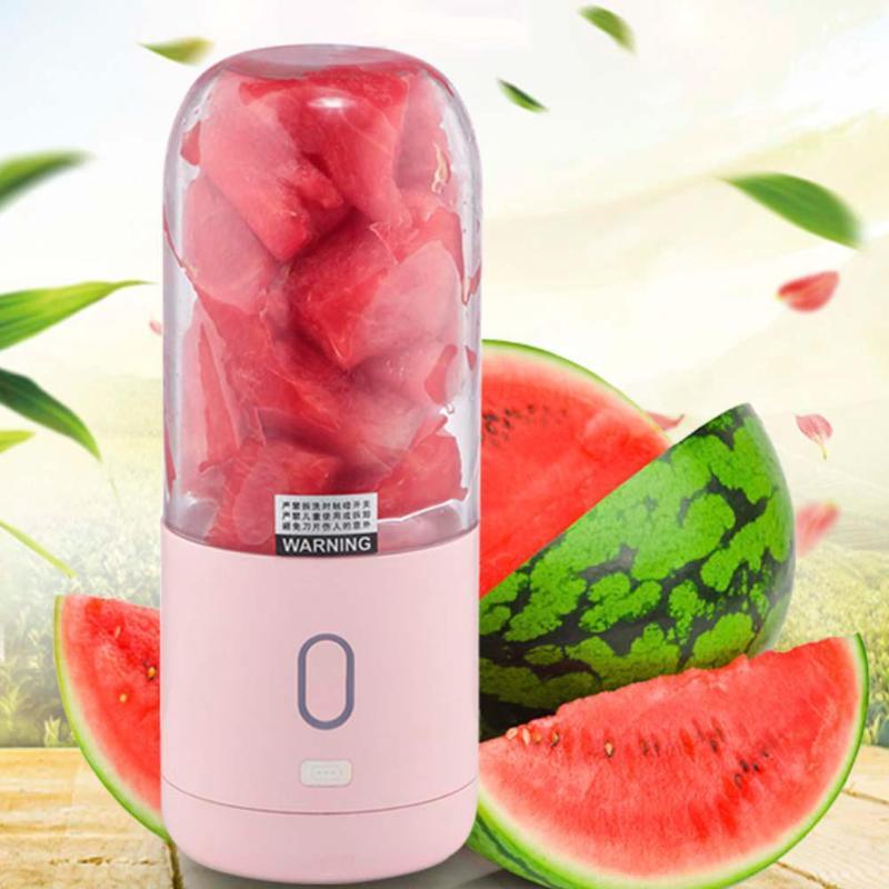 цена на 355ml Mini Electric Juicer Cup Extractor USB Squeezer Blender 6 Blades Fruit Citrus Orange Lemon Juicer Rechargeable Juice Maker