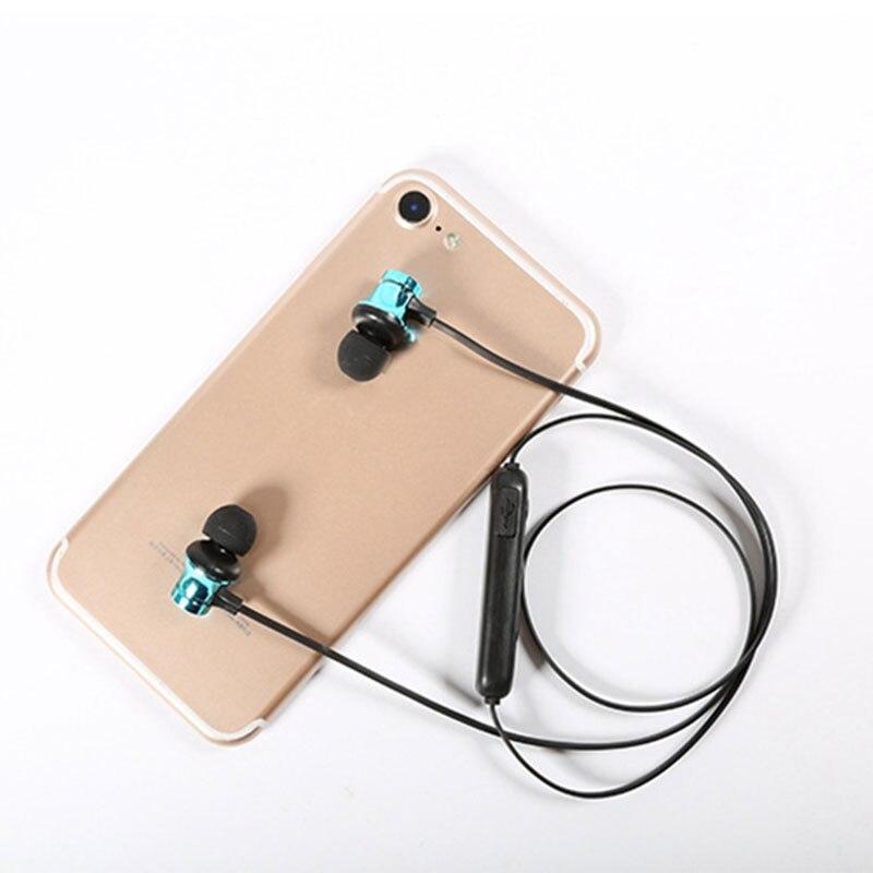 Auriculares inalámbricos Bluetooth XT11 auriculares estéreo banda magnética para el cuello auriculares deportivos auriculares manos libres con micrófono