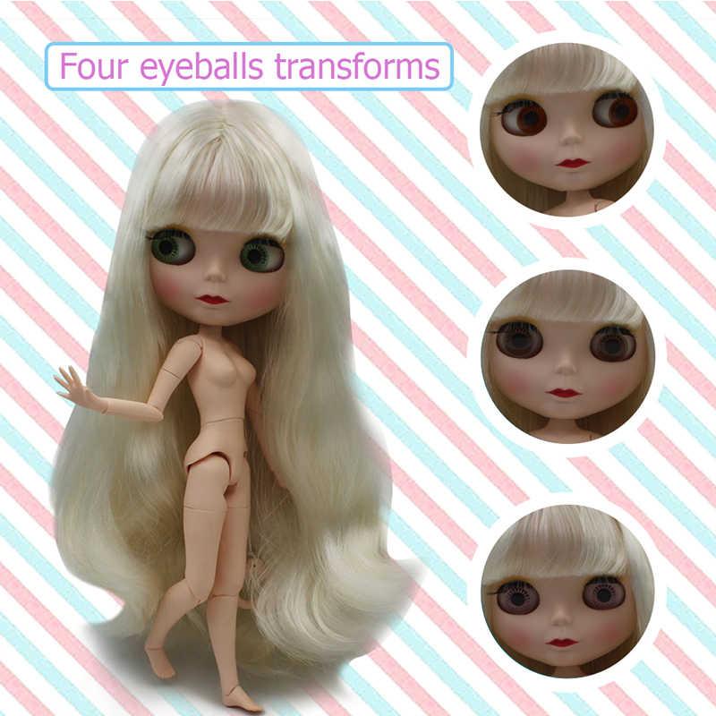 Blyth кукла BJD, Neo Обнаженная кукла Blyth уникальные, непрозрачные куклы лица могут изменить макияж и платье DIY, 1/6 мяч соединены куклы SO31