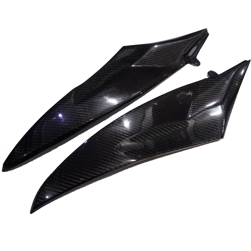 New 2 x Carbon Fiber Tank Side Covers Panels Fairing For Yamaha YZF R6 2006-2007 YZF-R6 06 07 YZFR6 Tank Side Cover Panel hot sales yzf600 r6 08 14 set for yamaha r6 fairing kit 2008 2014 red and white bodywork fairings injection molding