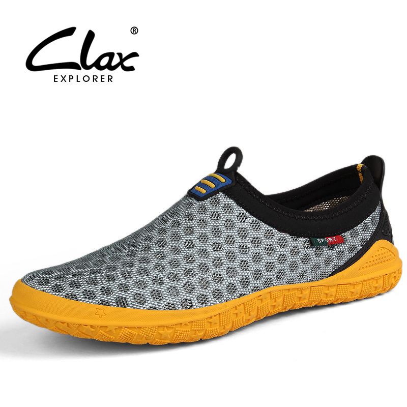 Clax Men Mesh Shoes Casual 2017 Summer Shoe for Male Breathable Designer Flats Walking Footwear Soft Light fgn men s new 2017 casual summer breathable male wear resistant mesh shoes comfort trend of male flats shoes