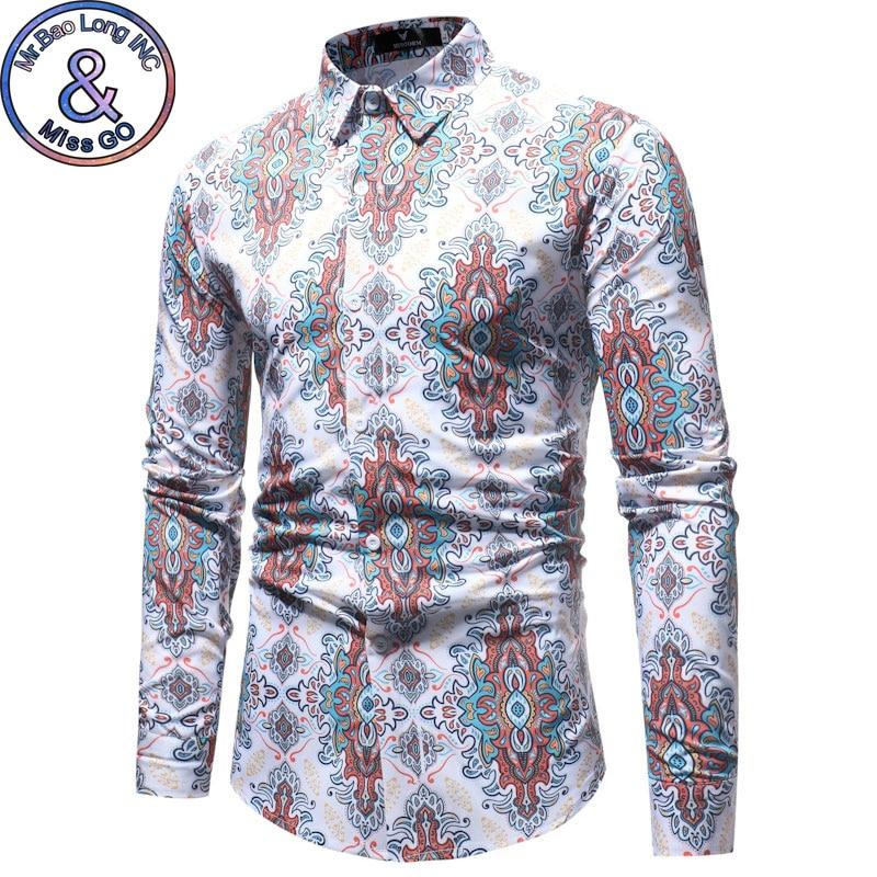 Marka 2018 Moda Mężczyzna Koszula Z Długim Rękawy Prać