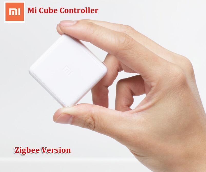imágenes para Nuevo 2017 xiaomi mi cubo controlador zigbee control de versiones by seis acciones con Aplicación de Teléfono para el Hogar Inteligente Dispositivo de TV Socket Inteligente
