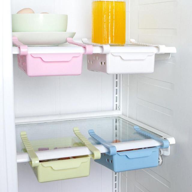 Slide Refrigerator Space Saver Organizer Freezer Storage Box Shelf Holder Drawer  sc 1 st  AliExpress.com & Slide Refrigerator Space Saver Organizer Freezer Storage Box Shelf ...