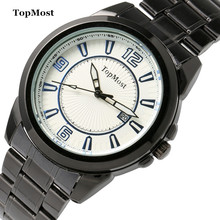 TOPMOST brand, 1932 # accurate waterproof calendar quartz watches, men's fashion leisure sports watch stainless steel
