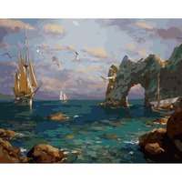 Frameless Pictures Painting By Numbers Digital Oil Painting On Canvas Home Decoration 40x50cm Sea Da187
