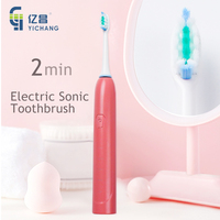 Electric battery powered toothbrush teeth cleaning machine ultrasonic oral b toothbrush for kids and adult