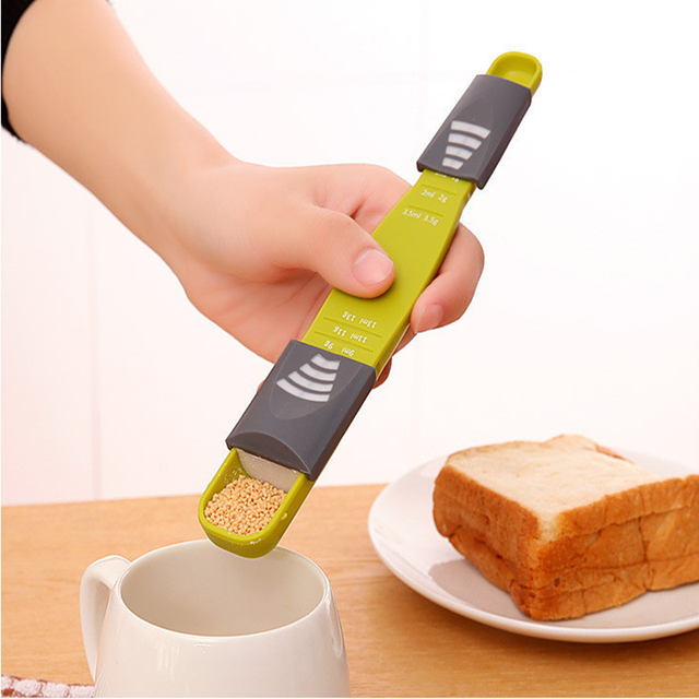 Plastic Scale Measuring Spoon Baking Milk Powder Kitchen Accessories