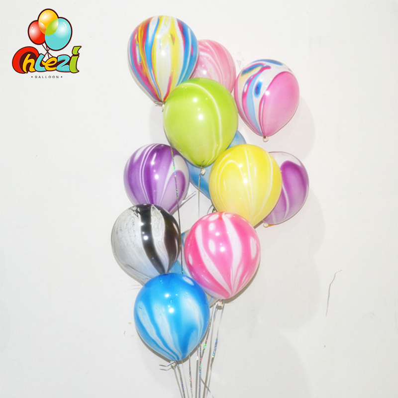 10pcs 3.5g Marbled Latex Balloons Wedding Decoration Agate Colorful cloud Latex ballon Baby Shower Birthday Party Decor Supplies