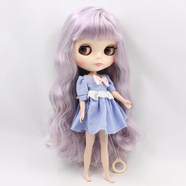 TBL Neo Blythe Doll White Violet Hair Regular Body