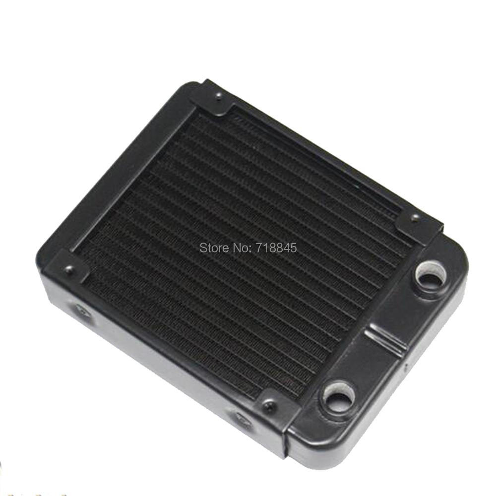 Купить с кэшбэком New Black 120p pure aluminum water discharge heat exchanger computer water cooling radiator