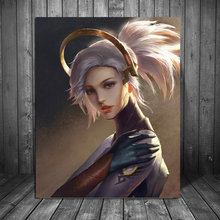 цена на Game Overwatches Fan Wallpaper Canvas Painting Prints Living Room Home Decoration Modern Wall Art Oil Painting Poster Pictures