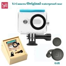 Original Xiaoyi Waterproof Housing Case for Xiaomi Yi Camera Diving 45m under water + Lens cover Xiao Mi Yi xiaoyi Accessories стоимость