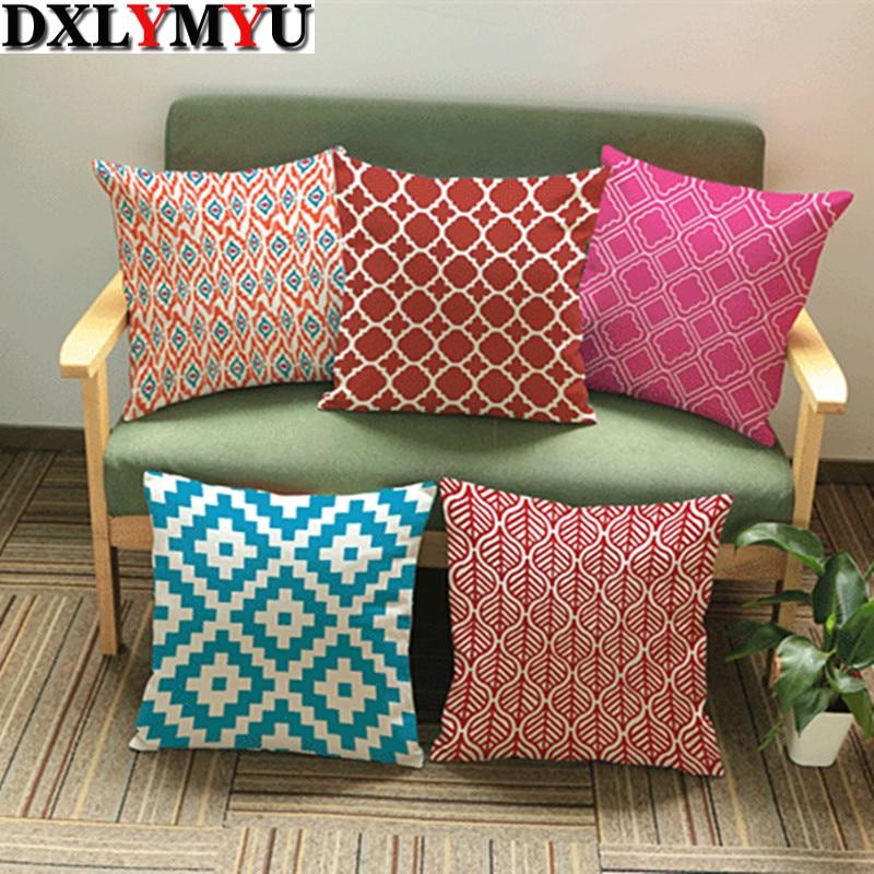 colorful striped print Decorative pillows Cushion square