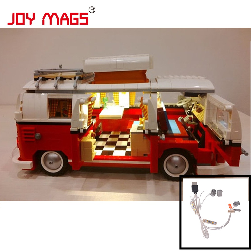 JOY MAGS Only Led Light Kit For Creator Volkswagen T1 Camper Van Light Set Compatible With 10220 And 21001 (Not Include Model)