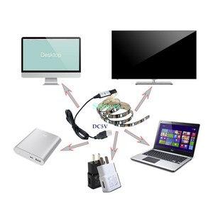 Image 4 - SMD 5050 RGB LED Strip DC 5V USBไฟLED Stripยืดหยุ่นIP20 IP65เทปกันน้ำ1M 2M 3M 4M 5Mเพิ่มRemoteสำหรับพื้นหลังทีวี