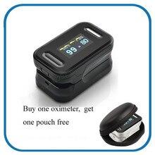 Digital del dedo oxímetro, pantalla OLED oxímetro de pulso SPO2 PR oximetro de dedo pulsioximetro, oxímetro de dedo con funda de transporte