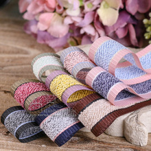 50/100yards 10/16/25/40mm grosgrain edge korean ribbon for bouquet flower gift packing supplies hair bow accessories