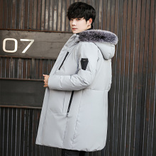 Mens down jacket White Duck Down coat men Winter Long collar winter warm Thick
