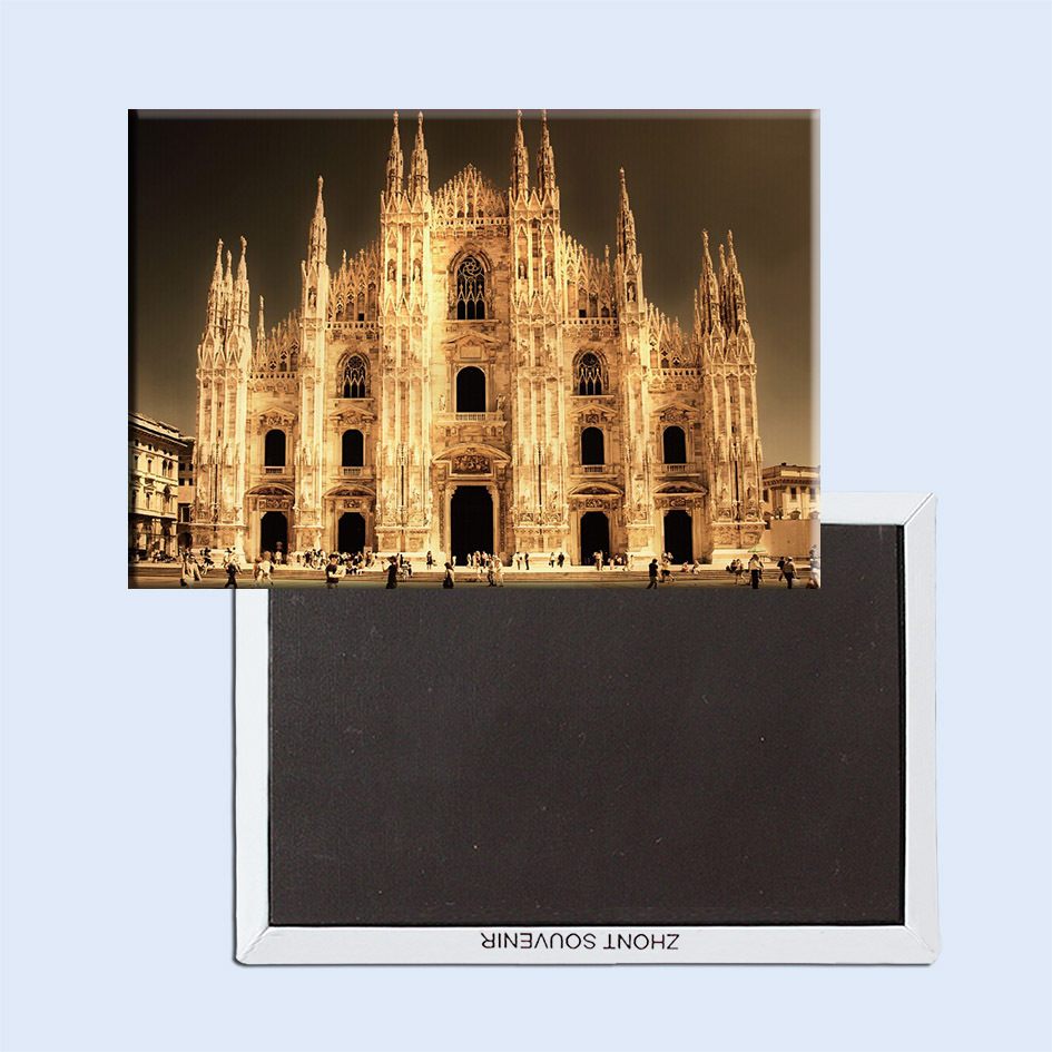 Souvenir Magnets FREE Shipping,Italy Milan ChurchTourist Metal Fridge Magnet SFM5188