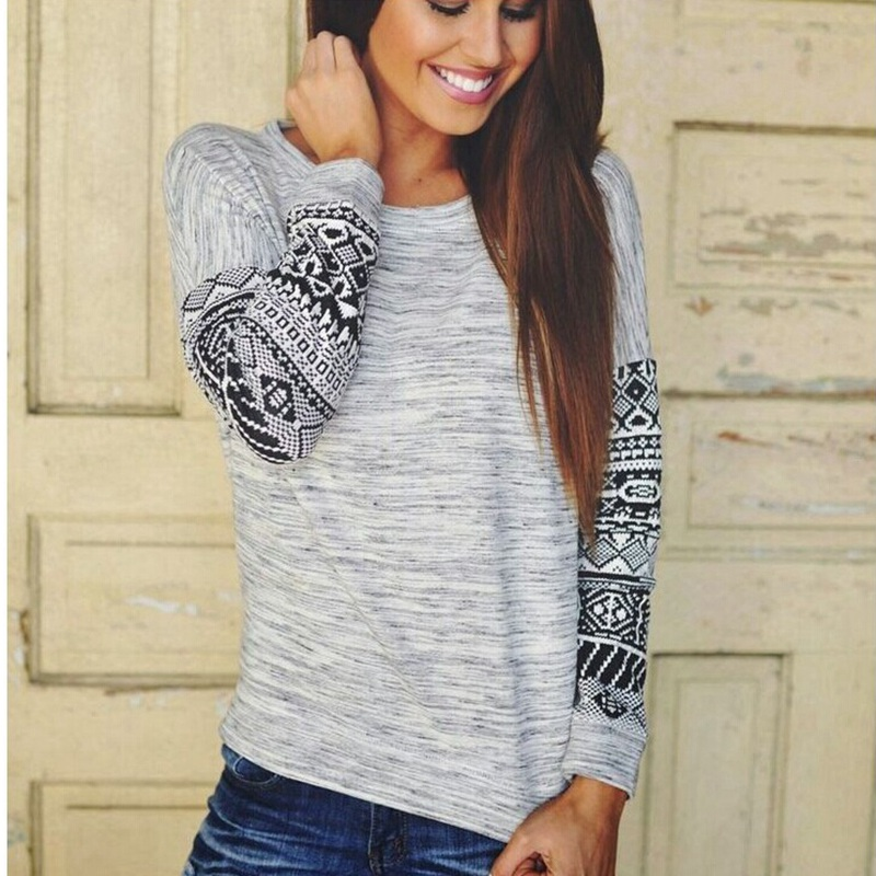 Women Girls New Fashion Casual Solid Loose Pullover Sweaters Autumn/Winter Long-Sleeve O-Neck Cotton Sweaters Tops Hot