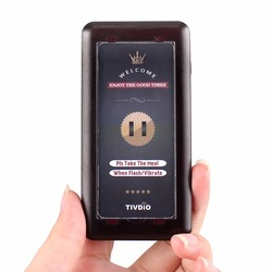 1pcs Coaster Pager Receiver Wireless Restaurant Calling System for T115 Paging Queuing System F9406B