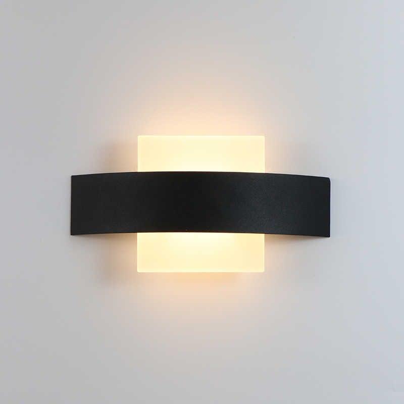 4 W светодиодный настенный светильник для помещений Кухня украшение для столовой лампа светильник Светильник Коридор Настенный светильник железа и акриловые AC90-260V