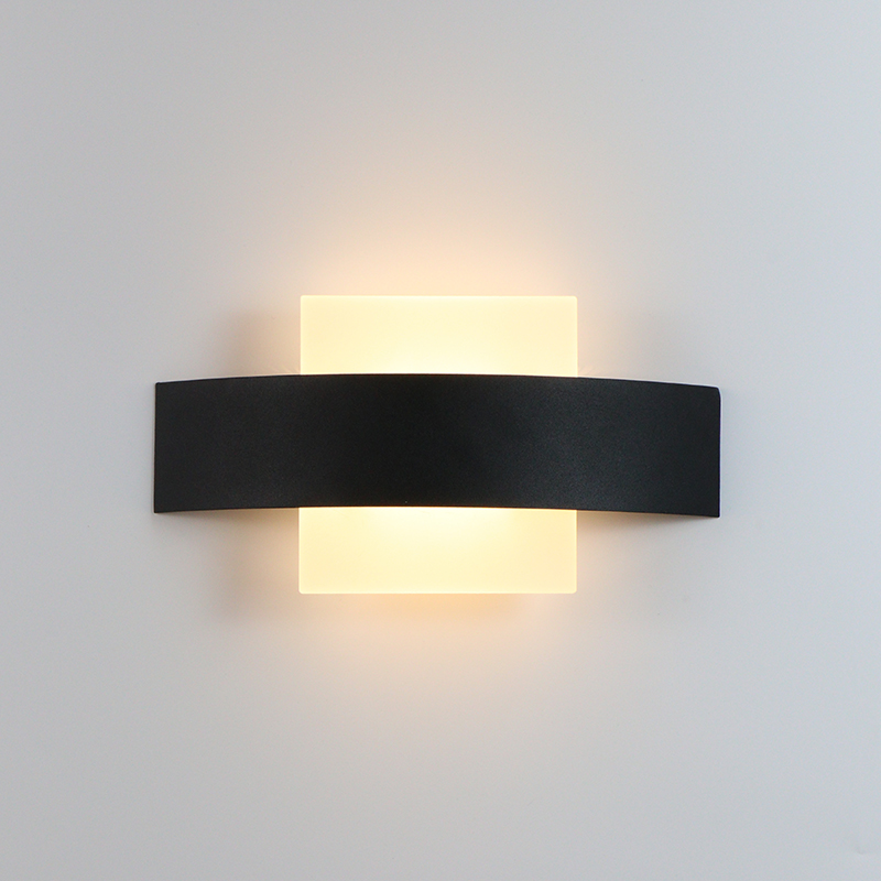 4W LED Wall Light Indoor Kitchen Dining Room Decoration Lamp Fixture Balcony Light Corridor Wall Lamp Iron & Acrylic AC90-260V