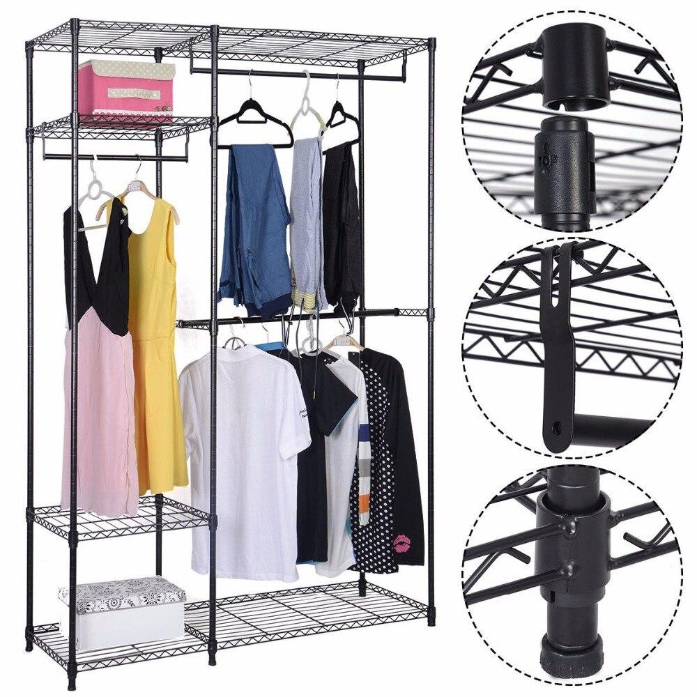 48 Quot X18 Quot X71 Quot Closet Organizer Adjustable Metal Wardrobe